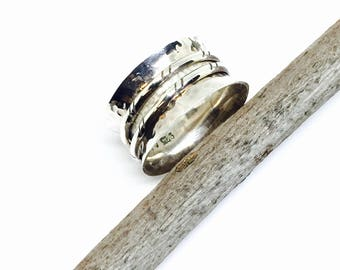 Spinner ring. Sterling silver 925. Size -5,6,7,8,10. Simple elegant ring. Satisfaction guaranteed