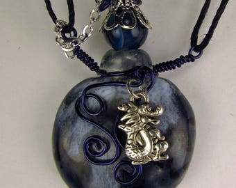 Oil Diffuser Necklace  Hand Sculpted OoAK  (N)