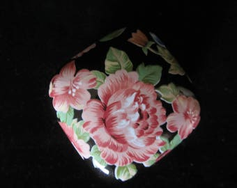 Floral Garden Tavistock Otagiri Trinket Box-handcrafted in Japan.  Black, decorated with gorgeous hand-painted pink, blue, & orange flowers!