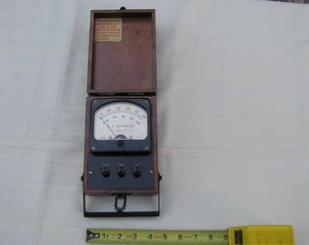 1940's Hickok Electrical Instrument Company Model S-49M A.C. Voltmeter