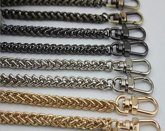 2pieces * 120CM length top quality luxury bag chain strap with lobster hook gold black silver brass  hadnbag Purse Replacement Chains XY092
