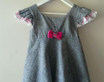 Vintage Style, Hand Made, Unique, Original Design, Elegant Dress-Skirt  for 2-3 y Girl on Sale