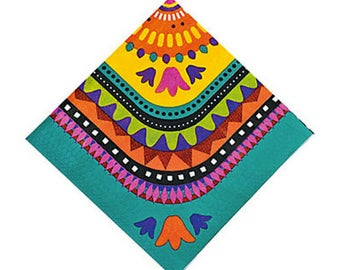 My Fiesta Party Luncheon napkins  / fiesta party/ fiesta/ backyard party/ cookout/ picnic/ colorful napkins