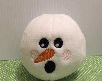 Fleece Snowball, Indoor Snowball,Plush Snowball