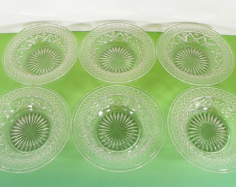 Imperial Glass Cape Cod Rimmed Baked Apple Bowl (s) LOT OF 6