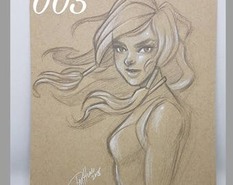 005 - original pencil - korra
