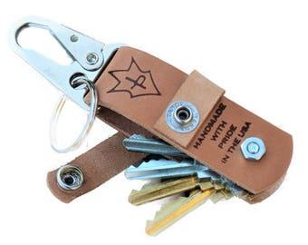 JP Leathercraft Handmade CLAVIS keychain Key Keeper Natural Leather