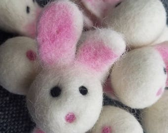 5 pieces Felted bunny. Easter bunny. Bunny decor. Felt bunny. Felt rabbit. Soft bunny. Craft