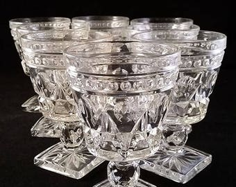 Set of 3 Colony Park Lane Clear Wine/Juice Glasses