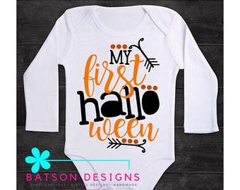 ON SALE My First Halloween one piece bodysuit | Baby's halloween outfit | Boys or Girls October halloween bodysuit