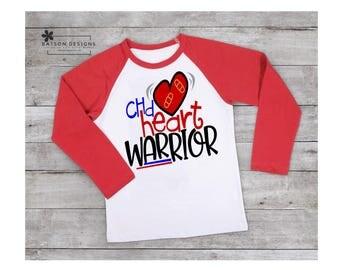 CHD Awareness Red Sleeve Baseball Style Shirt  | Congenital Heart Defect Top | Congenital Heart Disease Awareness Toddler Youth Adult Sizes