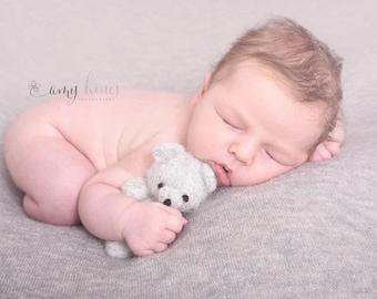 Knitted teddy bear. Photo props. Newborn toys. Teddy bear. Handmade teddy.