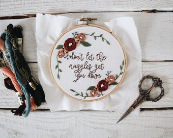 Dont Let the Muggles Get You Down Embroidery
