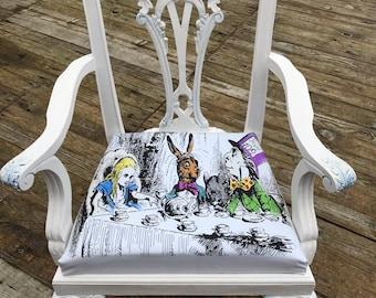 Alice in Wonderland inspired child size chair