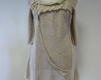 Casual knitted sweater, L size. Made of pure linen.