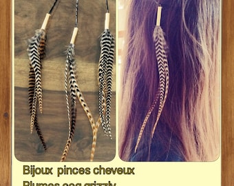 Jewelry pliers Rooster feathers hair
