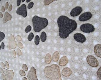 Wellnessfleece fleece paw beige-Brown