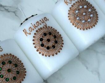 Circle Mandala Henna Candle   Candle Favours