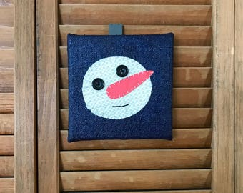 Snowman Head #1 Fabric Wall Art