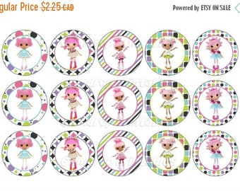 25%OFF Buy 3 Get 1 FREE Lalaloopsy Bottle Cap Images ~ Instant Download 4x6 inch ~ Lala Dolls Girls ~ 1 Inch Circles ~ Printable Image Sheet