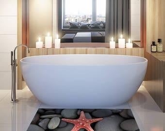 "TA00025 ""Starfish"" Adhesive PVC floor decoration"