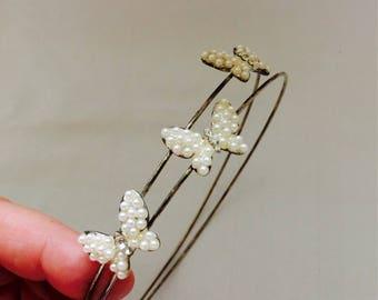 Vintage 60s diademe | vintage tiara| hairaccessories | vintage jewellery | diademe| tiara| vintage haarband| butterflies|