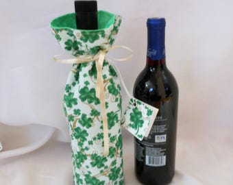 St. Patrick's Day wine bottle cover