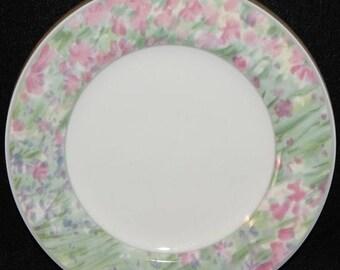ON SALE Christopher Stuart JARDIN Y0212 Dinner Plate Pastel Floral Rim Excellent Condition