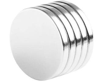 1 x 1/8 Inch Neodymium Rare Earth Disc Magnets N48 (5 Pack)