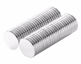1/2 x 1/16 Inch Neodymium Rare Earth Disc Craft Magnets N48 (50 Pack)