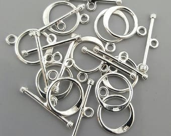 Sterling Silver Clasp 16mm x 12mm - 1 Set