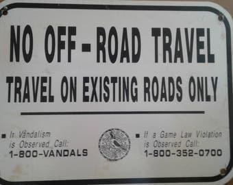 Arizona No Off -Road Travel Sign
