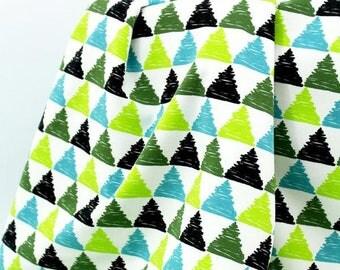 Drago Triangle blue - Stoffonkel Organic Cotton jersey UK Seller