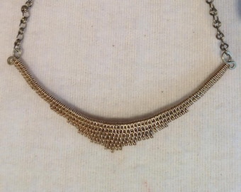 simple and elegant brass Choker necklace