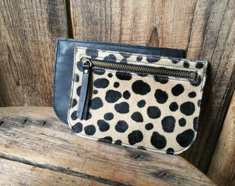 "Cover ""Pauline"" hair way Cheetah cowhide leather"