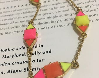 CN4 Kate shape triple color long necklace Used ( like new)