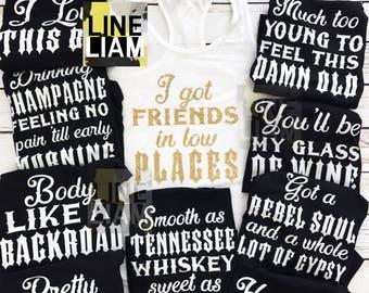 Nashville Shirts Country Music Bachelorette Party Bridesmaid Tanks