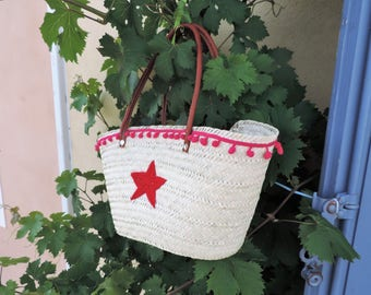 Beach basket, Wicker rieten bunch, wicker bag, beach bag, beach basket bag, beach bag