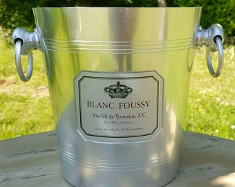 Fab Vintage French BLANC FOUSSY Silver Aluminium Champagne Ice Bucket / Wine Cooler / Table Centre-Piece,Al Fresco Dining etc
