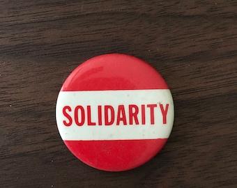 Solidarity Vintage Button
