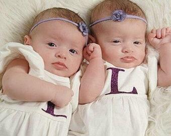 My sweet baby/flower/purple/lavender/tiny/Nylon Headband/Newborn/Photoshoot/Preemie/Simple/Baby headbands/girls