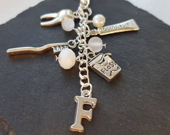 Dentist gift - dentist bag charm - dental nurse gift - dental gift - dentist graduation gift - gift for a dentist - tooth gift - tooth fairy