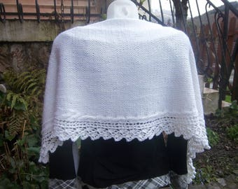Shawl/stole/scarf in 100% wool, soft and comfortable