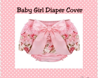 Flower Baby Girl Diaper Cover