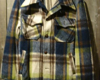 Vintage Sears Men's Store Plaid 4 Pocket Jacket