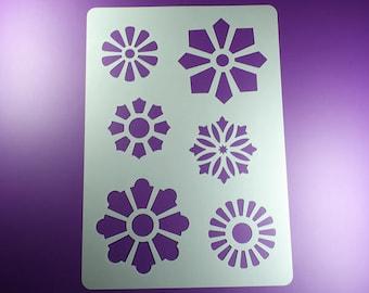 Template Rosette 6 Blossoms Japanese Asia-BA50