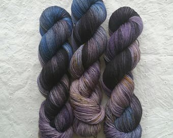 The Goblin King - Labyrinth Collection - speckled sock yarn on MARS 75/25 SW Merino/Nylon - ready to ship
