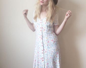 Vintage 90s Ditsy Floral Dress size S