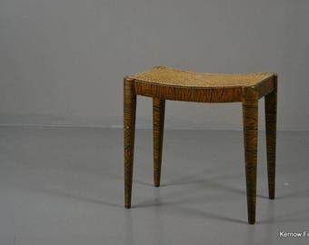 Fischel Furniture Caned Birch Effect Dressing Stool