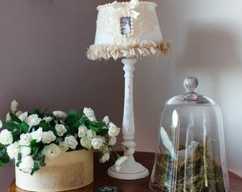 lamp style romantic shabby chic, french fabric